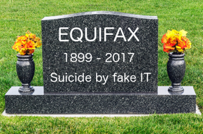 Photo of Equifax's tombstone.