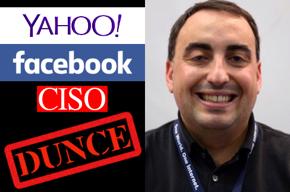 Yahoo then Facebook dunce CISO Alex Stamos.